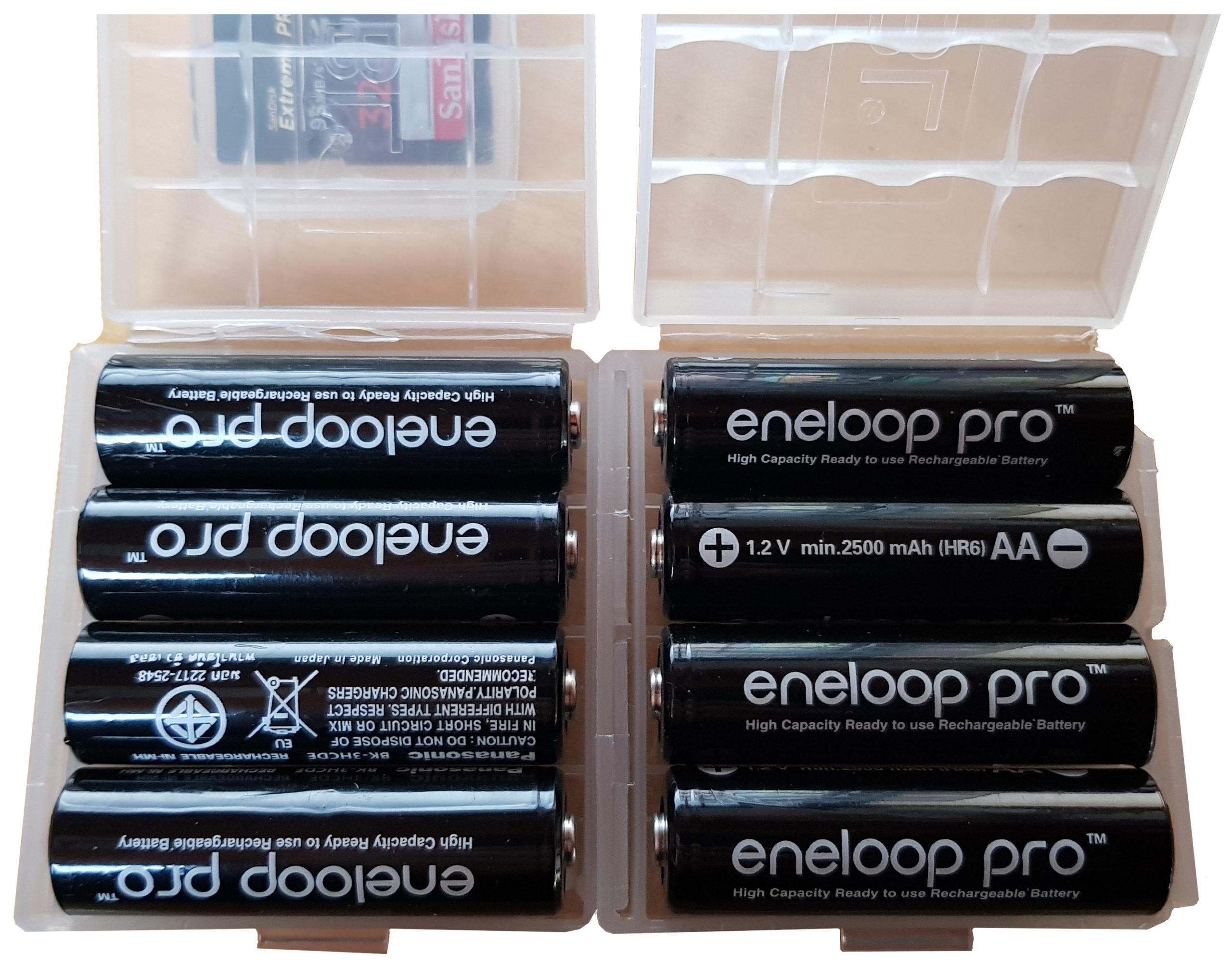 Piles rechargeables Eneloop Pro