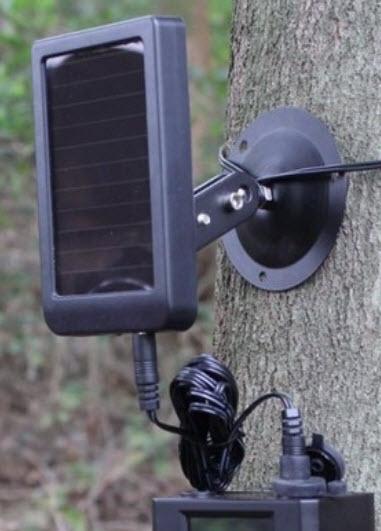 Panneau solaire pour piège photo