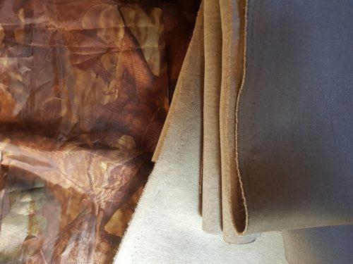 Les tissus : Tissu camo étanche et molleton